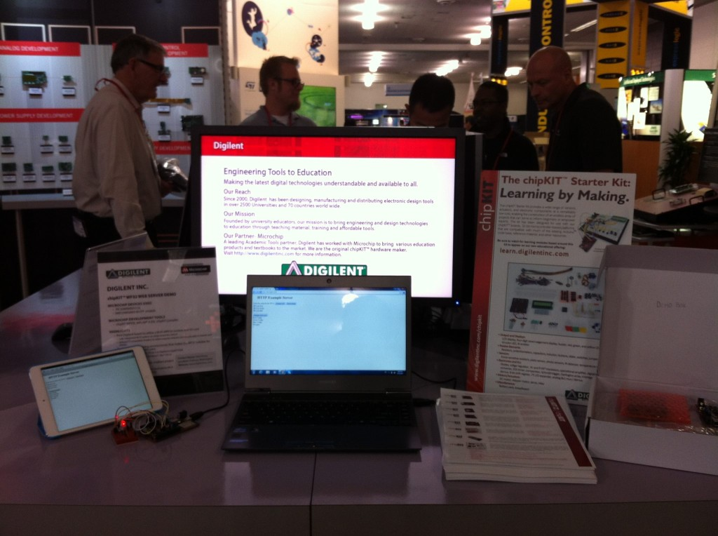 The Digilent Booth in the Microchip Partner exhibit.