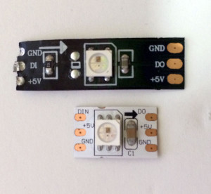 The flexible PCB comes in either white or black. Doesn't have any real difference when the LEDs are turned on, but if you are worried about what they look like when they are off, you may have a preference.