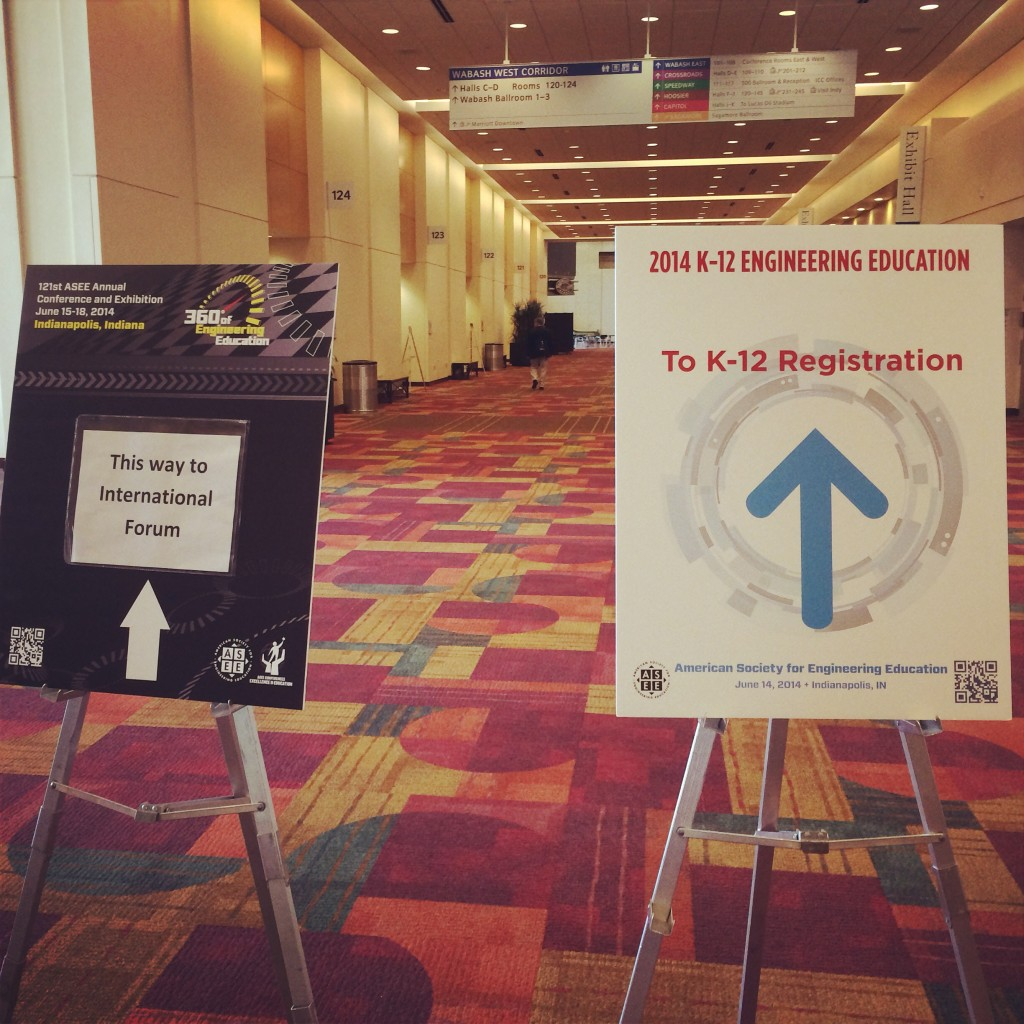 Signs to point to the K-12 Education workshops at ASEE 2014
