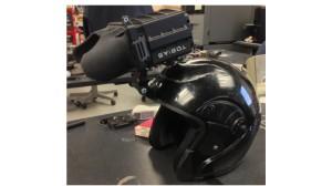 FPV mounted on helmet