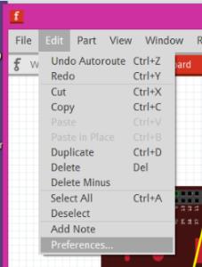 Edit -> Preferences