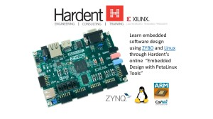 Use ZYBO to learn embedded software design through Hardent's  Embedded Design with PetaLinux Tools