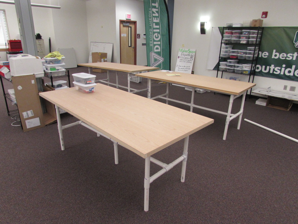 Three finished tables.