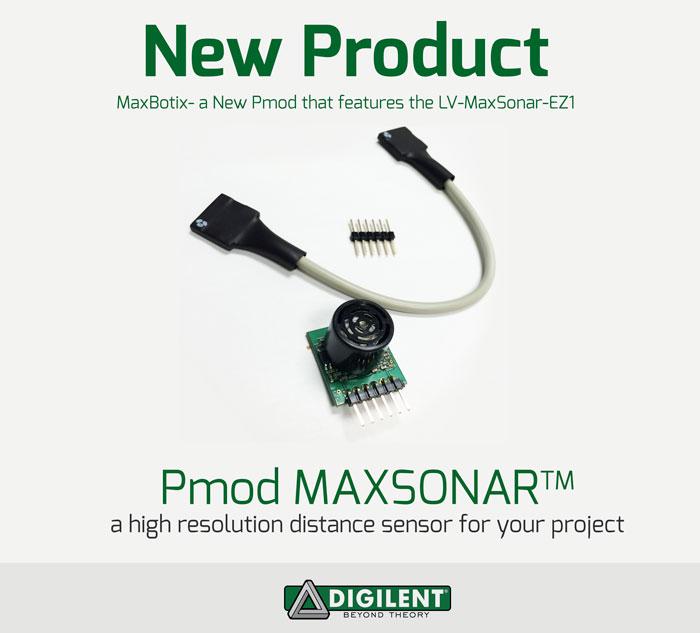 Pmod-maxbotix-ultrasonic-range-finder