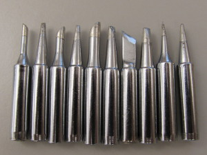Ten piece soldering iron tip from The DIY Outlet