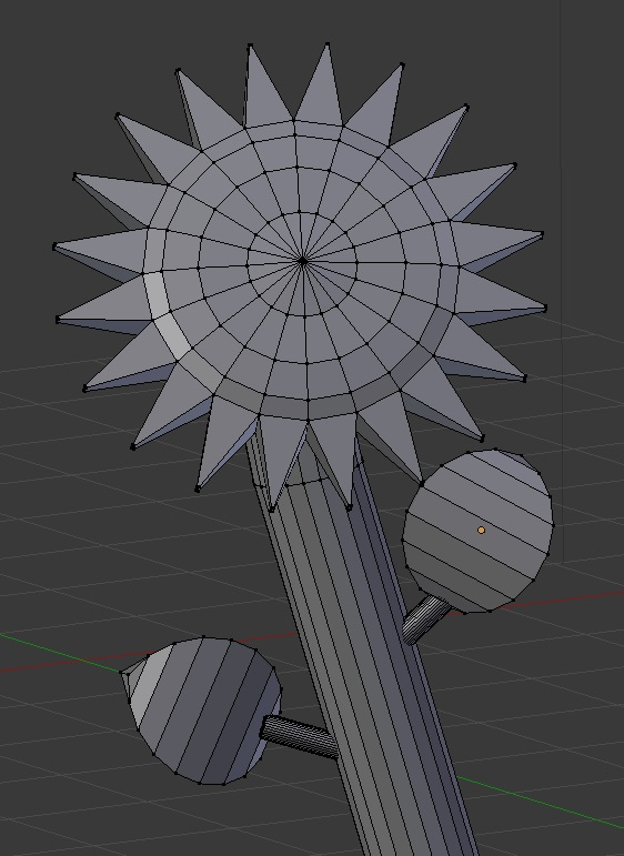 Example 3D flower model done with Blender