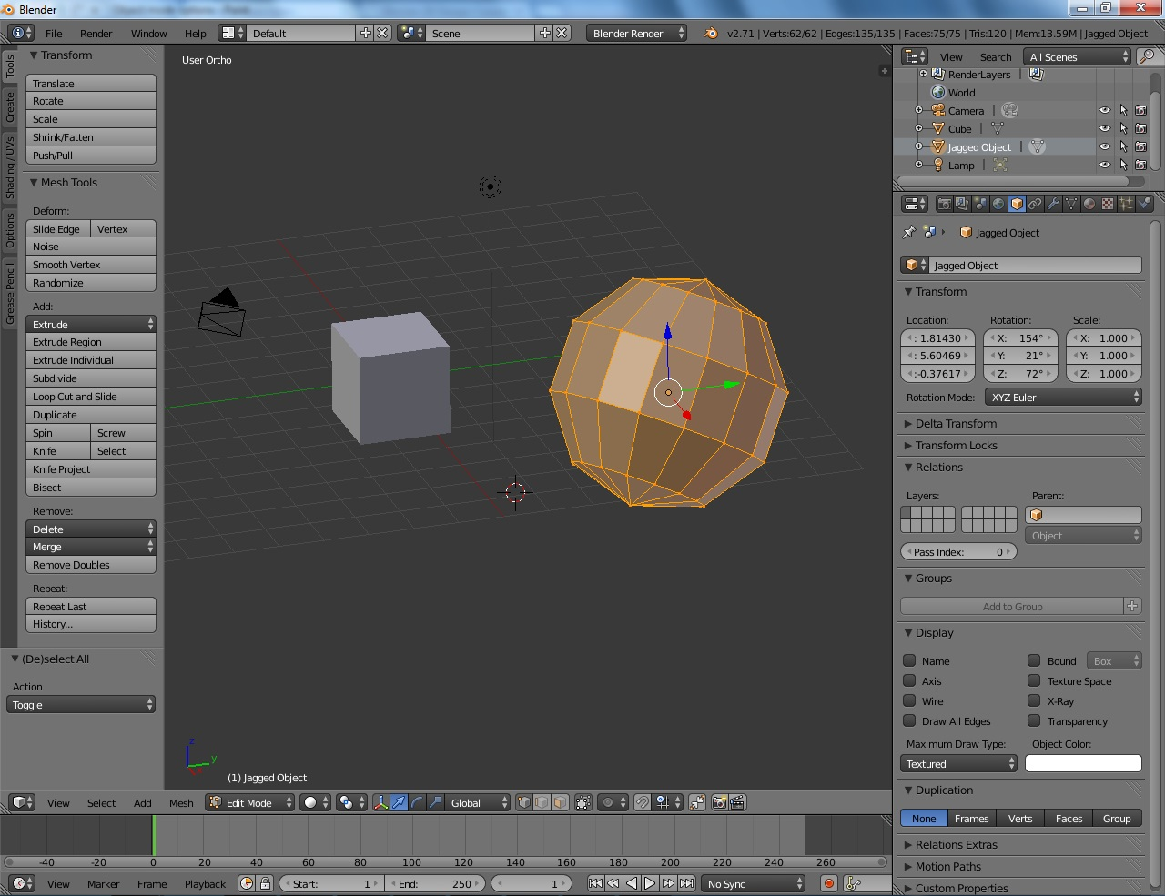 Blender's Edit mode.