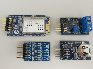"""12 pin Pmods on the left and 8 pin """"Imods"""" on the right"""