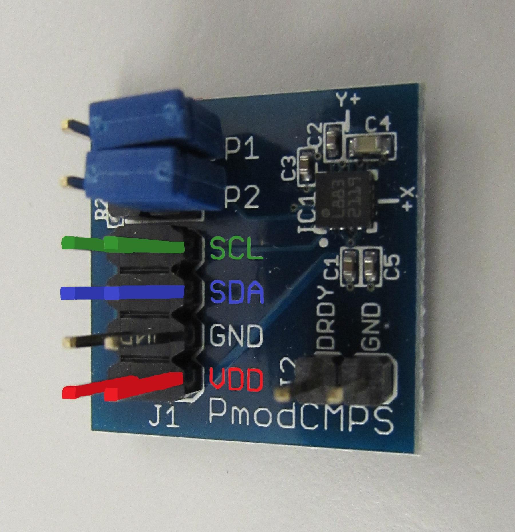 Digilent's I2C Pmod Compass