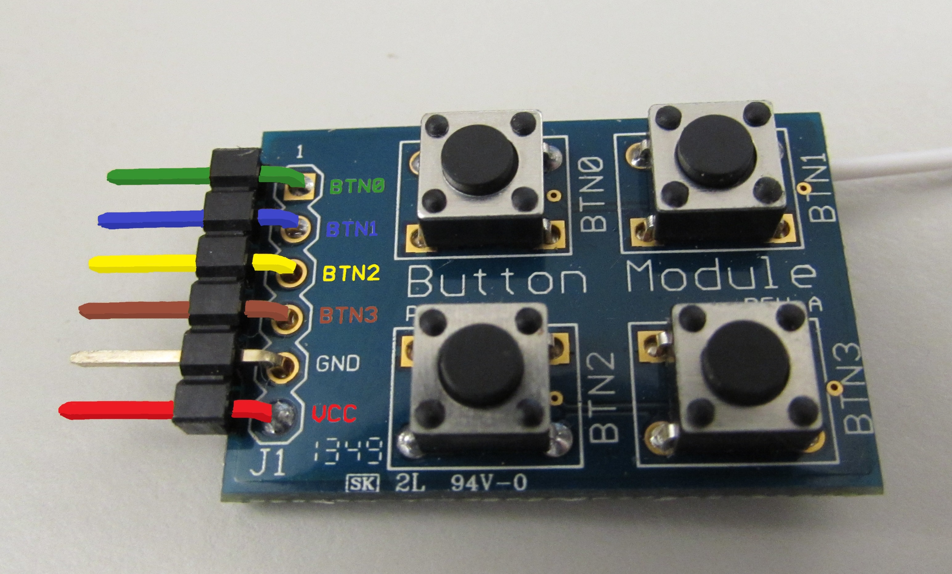 Digilent's GPIO Pmod Button Module