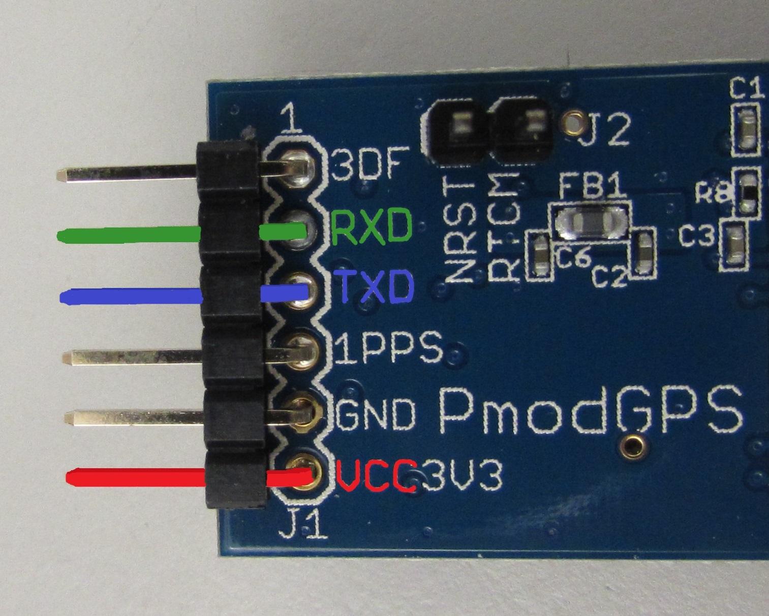 Digilent's 2 wire (receive and transmit) UART Pmod GPS