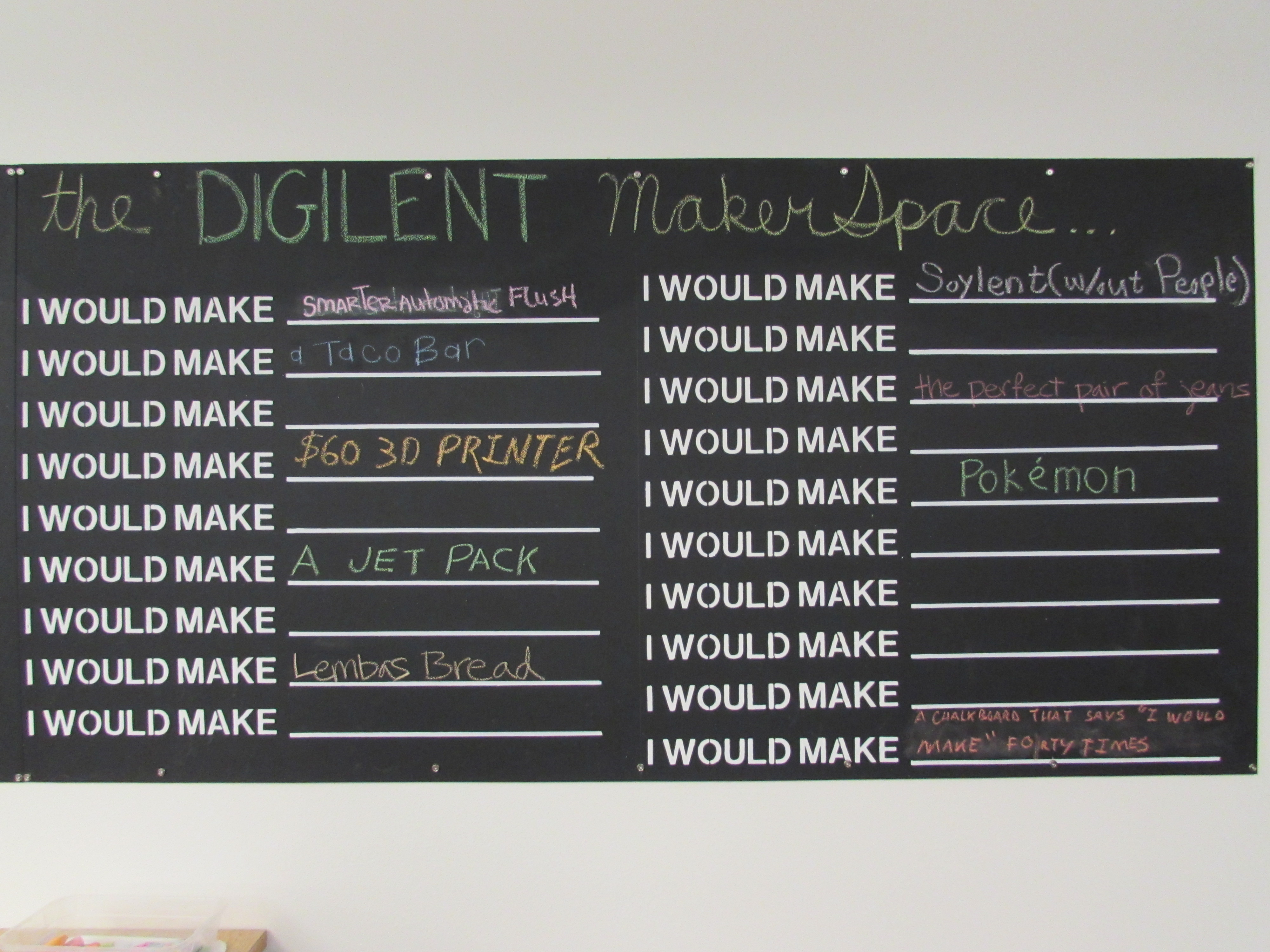 Right side of the two blackboards