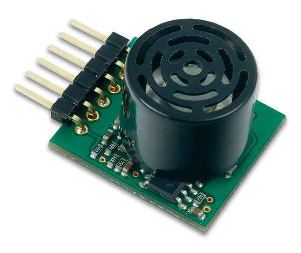 The PmodMAXSONAR is a useful ultrasonic peripheral module that can sense accurate distances.