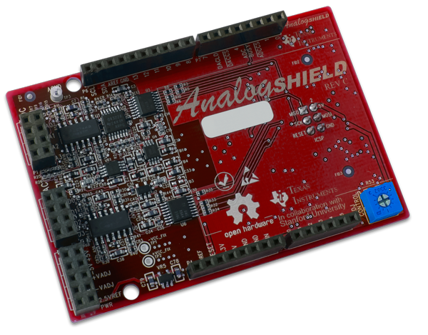 The Analog Shield is great for pairing with your chipKIT Uno32.