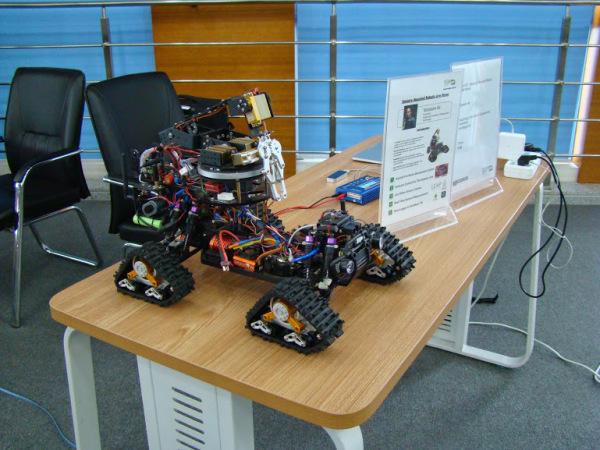 Sensory Mounted Robotic ARM Rover