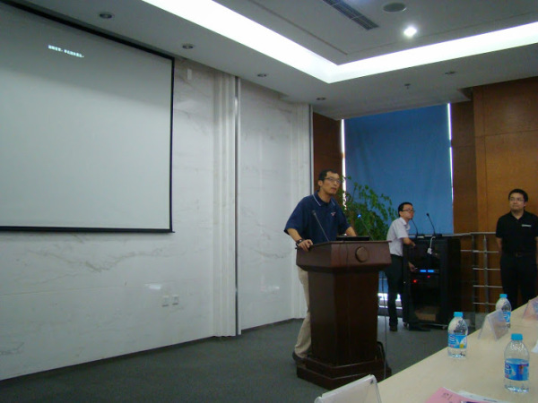 Mr. Tao Yu from Microchip China gave a speech