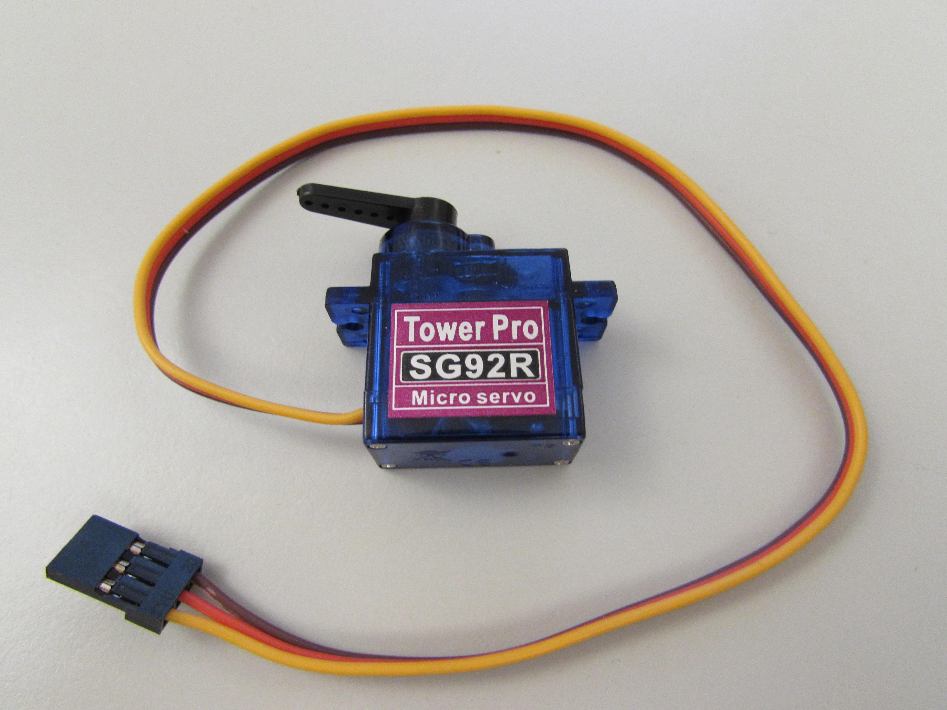 Tower Pro SG92R servo motor available in the chipKIT Starter Kit.
