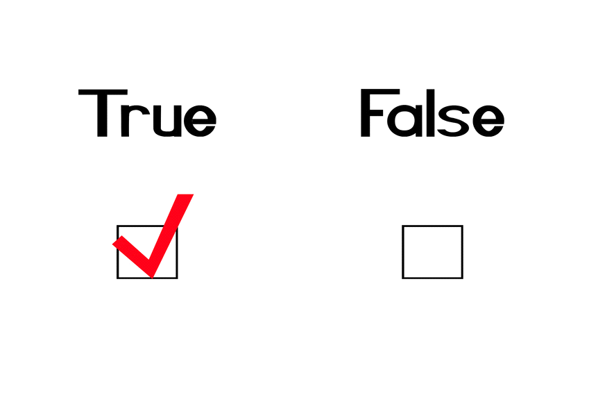 true or false One of two options on a true-or-false test the student received a failing grade for circling every true and false on her quiz anagrams  leafs,.