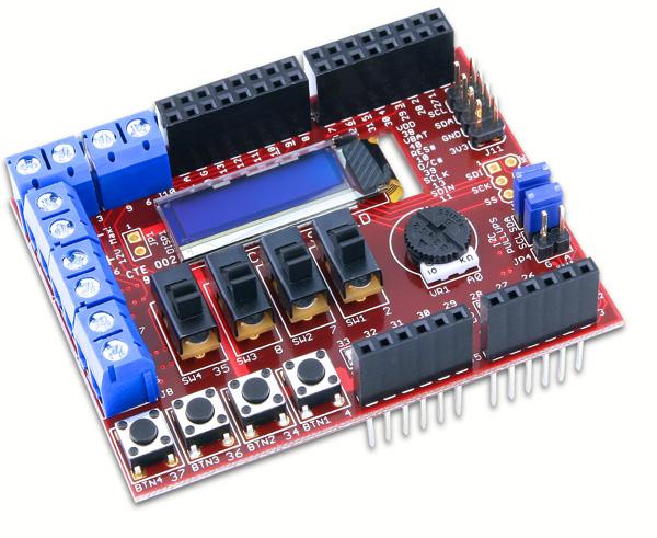 Digilent's chipKIT Basic IO Shield