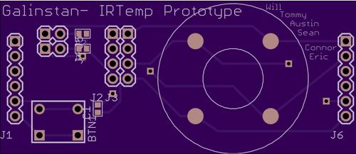 Layout of Temperature-Sensing Pmod