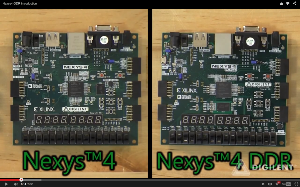 Screen shot from the Nexys4DDR launch video.