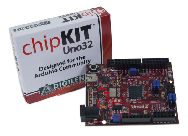 The chipKIT Uno32.