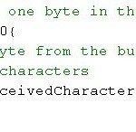 While there is data available in the Serial Monitor, read and remove a byte.