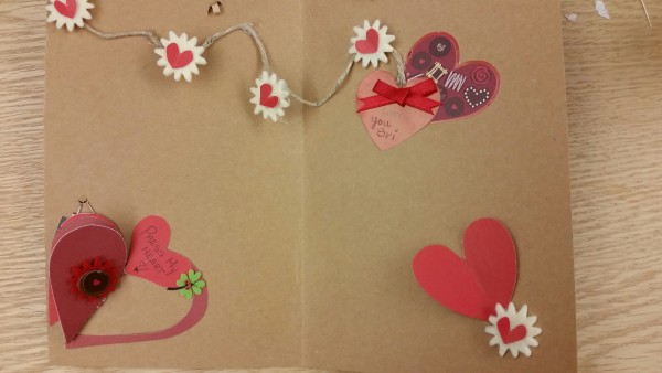 The inside of Holly's card.