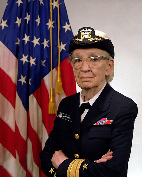 Commodore Grace Hopper, US Navy. Source: US Navy