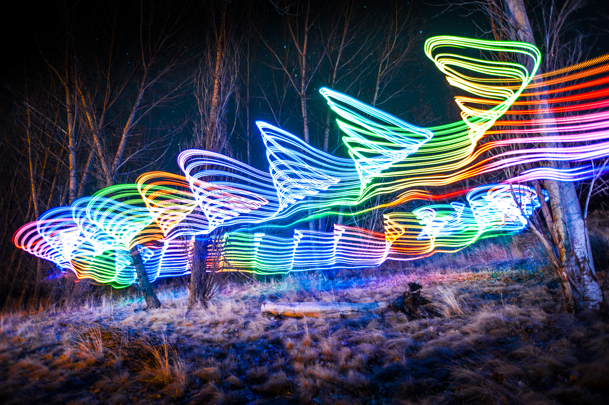 Long exposure of helicopter landing woahdude for Lights for paintings