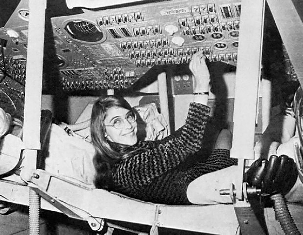 Margaret Hamilton at work. Source: NASA