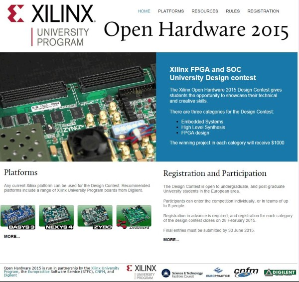 XUP OpenHW2015