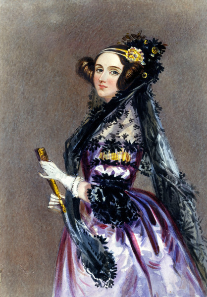 Ada Lovelace, one of the pioneers of computing. Image from Wikipedia.