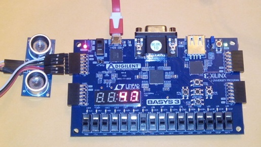 FPGA with a Low-Cost Arduino Ultrasonic Rangefinder