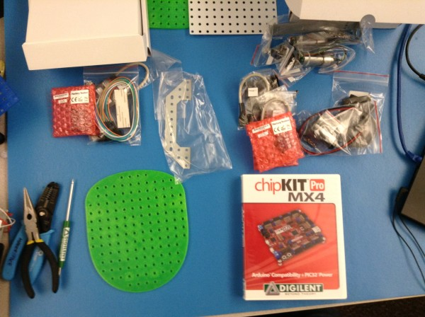Line-Following Motor Robot Kit Pieces