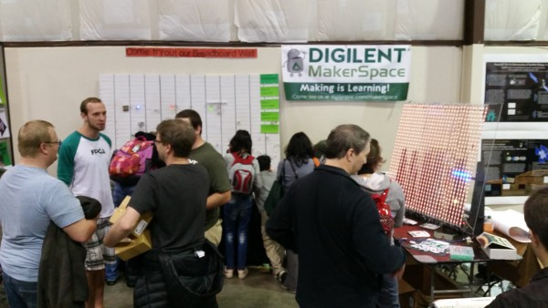 Our booth with the LED snake game on the right hand side.
