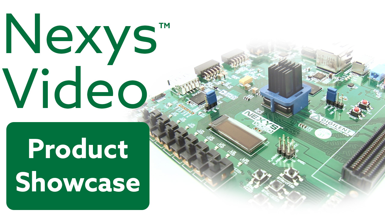 Fpgas And Microcontrollers Digilent Inc Blog Problem Electronics Forum Circuits Projects New Nexys Video Project On Youtube