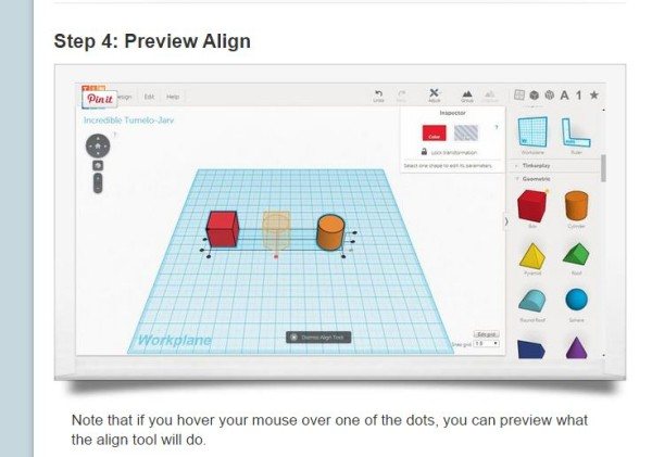 You can preview the align to make sure it's exactly what you want.