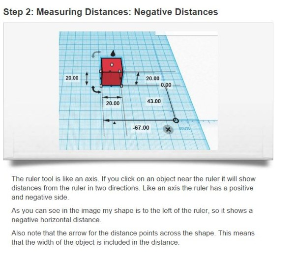 Negative distances using the ruler tool, something to watch out for.