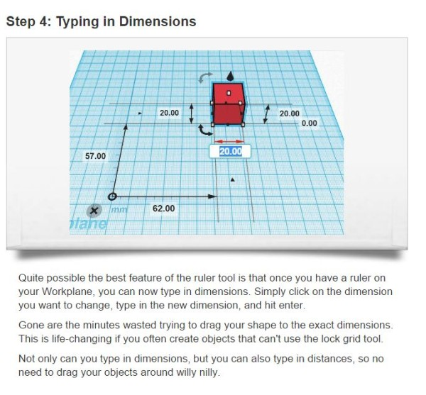 Typing in dimensions using the ruler tool. The best part of the ruler tool.