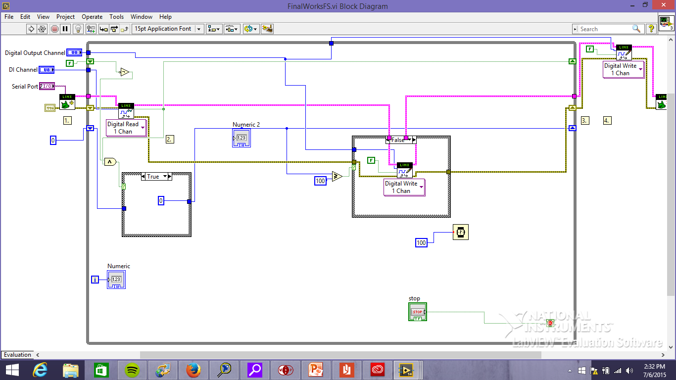 how to jump in labview