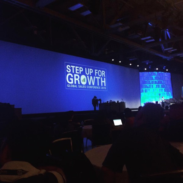 A keynote that was part of the sales conference.