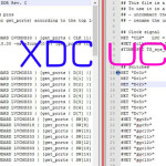 A side by side image of the XDC and UCF files for the Nexys 4 DDR.