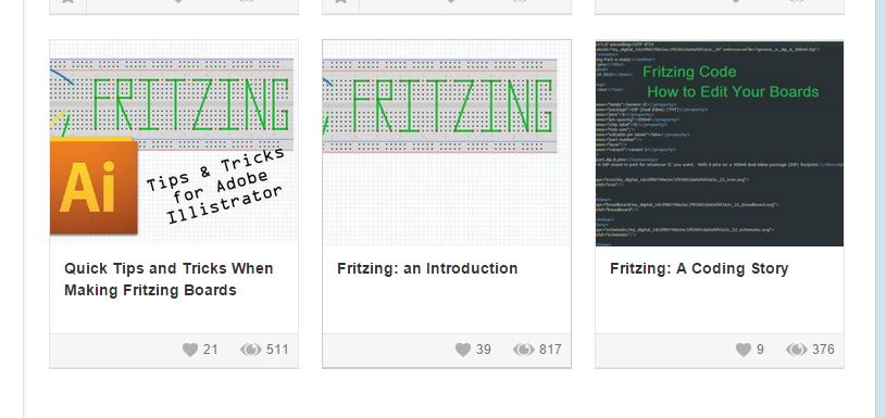The Fritzing Tutorials made by Bobby.