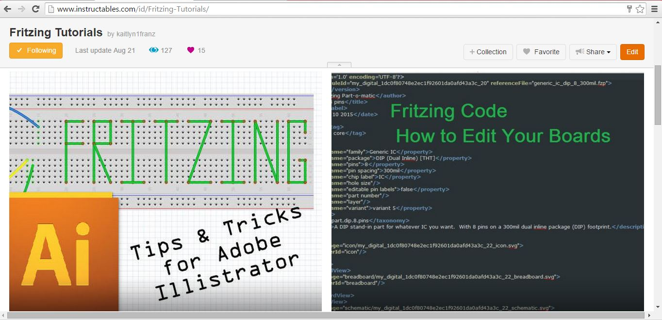 The collection of Fritzing tutorials.