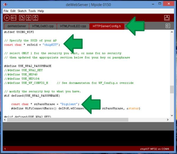 Running the MPIDE HTTP Server Example – Digilent Inc  Blog