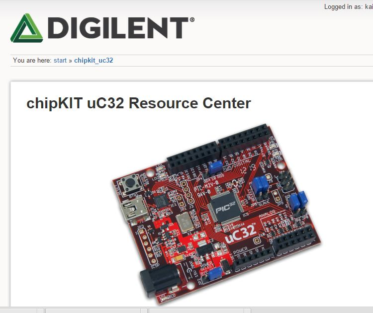 The resource center for the chipKIT UC32.