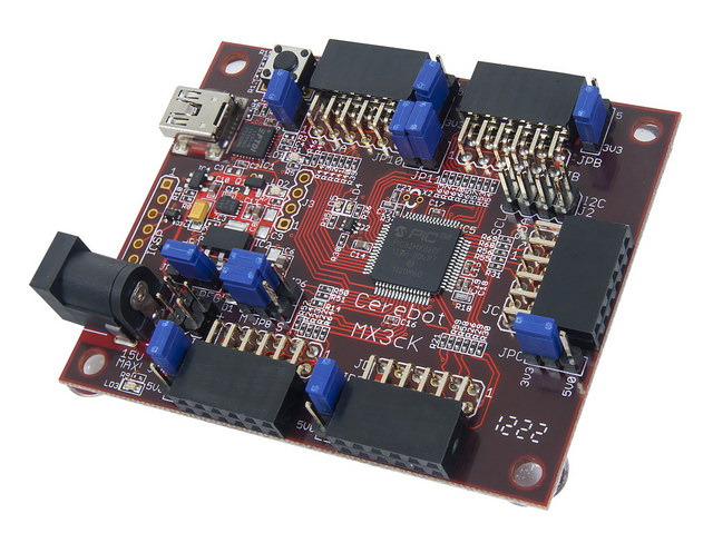 The chipKIT MX3. The same board that comes in the SRK and SRK + Line kits.