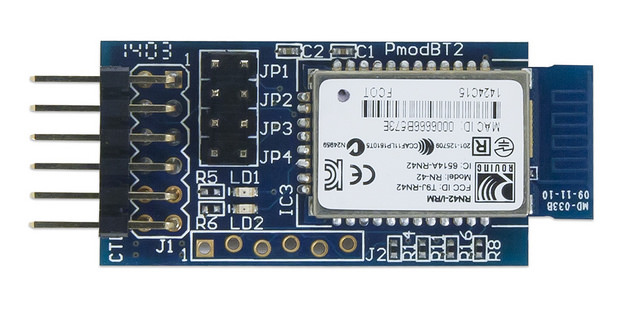 The PmodBT2, adding Bluetooth functionality to projects since, well it was created.