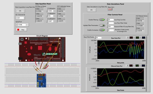 Making a Simple Accelerometer & Filtering Noise In LabVIEW